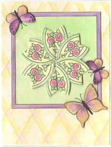 Great site for patterns and instructions. Teabag fold medallion with 3D butterflies and more!