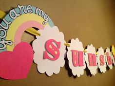 You Are My Sunshine Party Banner  Baby by ShowersBringFlowers, $28.00