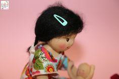Doll with mohair hair.  Vlásky z mohéru, mohérové vlásky ze speciální vyčesávac příze, ekopanenky.cz, slečna Over Ear Headphones, Dolls, Baby Dolls, Puppet, Doll, Baby, Girl Dolls
