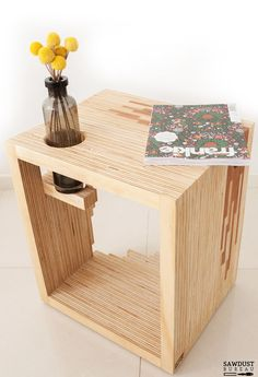 Ply Parasite, Plywood, Bedside Table,//i kinda wanna make out with this table. prrrrow!