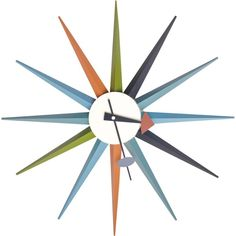 Add a touch of mid-century modern flair to any space with the Starburst Retro Wall Clock. This clock features a bold, unique design that is sure to be an adored addition to any room.