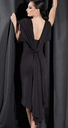 Vesa for Chrisanne Draped Back Latin Dance Dress