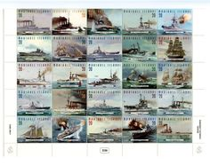 Stamp: Fighting Ships of the 50 States (Marshall Islands) (Ships) Mi:MH 649 Marshall Islands, 50 States, Battle, Ships, Postage Stamps, Boats, Scrap, Ship, Stamps