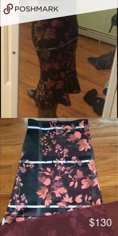 Clover Canyon Skirt Clover Canyon midi length mermaid style scuba material skirt. This stunning skirt is perfect for dinner, night out, or formal party. Never once worn, in perfect condition. Clover Canyon Skirts Midi