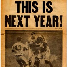 1955 Brooklyn Dodgers had one winning season in Brooklyn before the Evil O'Malley moved them to the west coast in 1957.