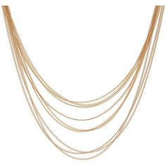14th & Union Layered Short Chain Necklace ($13) ❤ liked on Polyvore