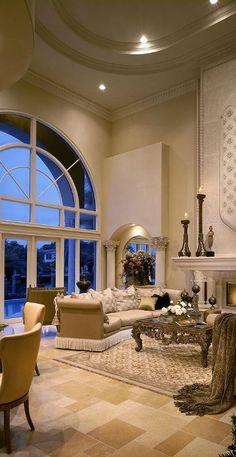 Glamorous Living Room | Grossman Photography