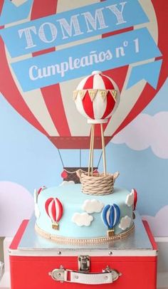 Primary Colors Hot Air Balloon Birthday Party