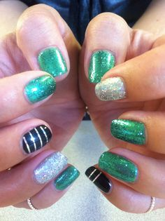 Sparkle Party Shellac Nails @NailtechChristyClow