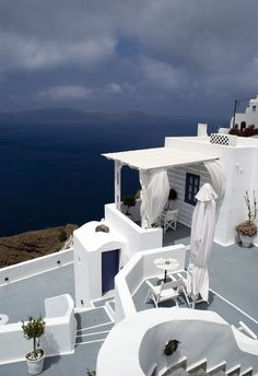 Firá on de island of Thera (Santorini)_ Greece