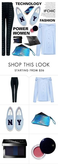 """""""Technology, Fashion and the Power Women"""" by ifchic ❤ liked on Polyvore featuring A.L.C., TIBI, Joshua's, Mohzy, ASUS, Bobbi Brown Cosmetics, Clé de Peau Beauté and contemporary"""