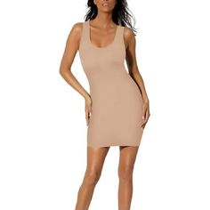47620f9f5 Better U Body Slimming Slip Dress with Built in Bodysuit Smoothing Shaper  Slim  BetterU