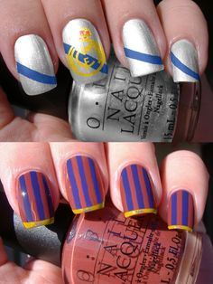 Real Madrid and FC Barcelona Nails
