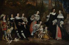Juriaen Jacobsz. | Group Portrait of Michiel de Ruyter and his Family, Juriaen Jacobsz., 1662 | Groepsportret van Michiel de Ruyter en zijn familie. Links zit Michiel Adriaensz de Ruyter, vice-admiraal van Holland ten tijde van dit portret, zijn derde vrouw Anna van Gelder (1614-87) en haar zoon uit een eerder huwelijk Jan Pauwelsz van Gelder (1647-73). De drie kinderen uit De Ruyters tweede huwelijk zijn staande voorgesteld: uiterst rechts Cornelia (1673-1720) met haar man Jan de Witte…