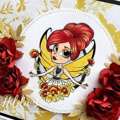 Hilda Designs: Tarjeta Bella Hada, Digi de Simply B Stamp