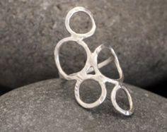 Anillo de círculos de plata esterlina anillo de por alwayzwithlove                                                                                                                                                                                 Más