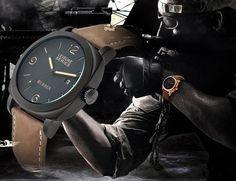Zegarek CURREN Militarny skórzany Męski Army STYLOWY Black Ops, Mens Sport Watches, Watches For Men, Military Army, Quartz Watch, Leather Men, New Fashion, Dating, Clock
