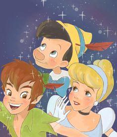 Peter, Pinocchio & Cinderella
