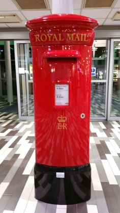 Post Box at Hopwood Services, Worcestershire, UK
