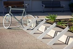 Bay City Bike Racks shown with Aluminum Texture powdercoat
