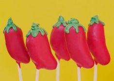 festive wedding cake pops chili peppers for dessert :) Hubby likes chili...hehe..