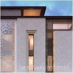 سلم Detail Architecture, Islamic Architecture, Modern Architecture House, Residential Architecture, Modern Exterior, Interior Exterior, Exterior Design, Modern Villa Design, Classic Building