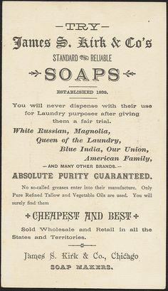 The leading soaps of America [back] by Boston Public Library vintage ad