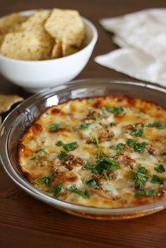 garlic + mushroom queso fundido by girlversusdough, via Flickr