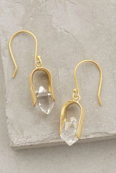 Herkimer Horseshoe Drops #Anthropologie