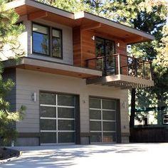 Contemporary Garage W Apartments Modern House Plans Home Design