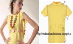 Beautiful rework shirts and T-shirts (traffic) Shirt Refashion, T Shirt Diy, Diy Fashion, Ideias Fashion, Fashion Tips, Recycled T Shirts, Pretty Shirts, How To Make Clothes, Diy Clothing