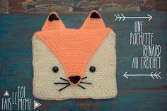 Fais le toi même : la pochette renard au crochet – Fais le toi même