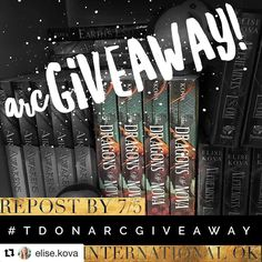#Repost @elise.kova (@get_repost)  How do I still have ARCs of THE DRAGONS OF NOVA on my shelf?! Let's get rid of them! Repost this photo by 7/5 with the hashtag #tdonARCgiveaway to win a signed ARC!  International entries are OK!  Tag up to 3 friends below for extra entries and to spread the word! (Also... giving away another copy on Twitter!)  #instabook #bibilophile #bookstagram #books #book #booklife #booklove #bookworm #booklovers #booknerd #bookgeek #amreading #read #reading #qotd…