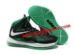 de9a36dc108 Nike Zoom Lebron 10 Shoes Black Green White Nike Max