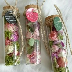 Flowers In Jars, Dry Flowers, Flower Crafts, Flower Art, Goth Home Decor, Dried Flower Arrangements, Mini Bottles, How To Preserve Flowers, Succulent Pots