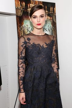 Keira Knightey in Valentino Haute Couture. New York, November 2012 - love keira's eyes here