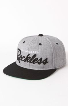 Mens Backpack/ Og Script Heather Snapback Hat by Young & Reckless