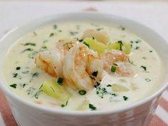 Самый вкусный сырный суп с креветками