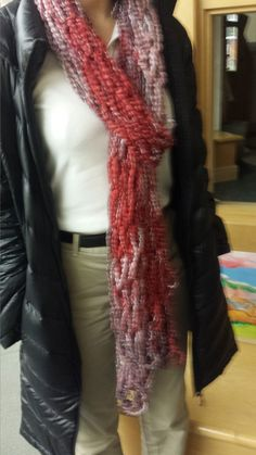 More arm knitting creations
