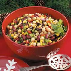 Confetti Bean Salad Recipe...made this for Church picnic...really good..even better after marinating overnight!