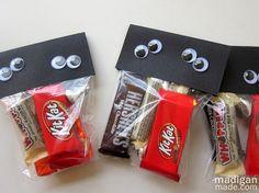 halloween treat bags, diy ideas, halloween parties, school parties, goodie bags