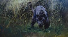 This atmospheric painting of a panther was done by Paul Apps in #oils and is now available on ArtTutor Oil Painting Lessons, Painting & Drawing, Animal Paintings, Illustration Art, Illustrations, Black Panther, Big Cats, Love Art, Wildlife