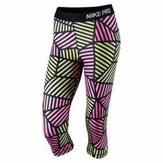 Nike Womens Pro Fade Capri  - Pink