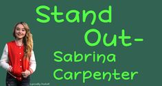 Stand Out By Sabrina Carpenter With Lyrics Original Audio (No Pitch) Comment Any Song Suggestions Below I Do Not Own This Song ------------------------------. All Songs, Best Songs, Love Songs, Song Suggestions, Piano Man, Disney Music, Girl Meets World, Walk By Faith, Sabrina Carpenter