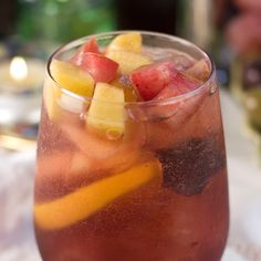 Learn how to make the 1 + 1 Peach Sangria cocktail recipe from The Cocktail Project.