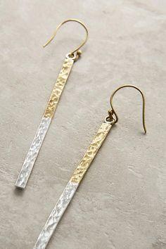 Slide View: 2: Linear Drop Earrings