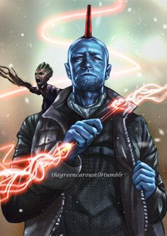 If Peter is Yondu's son then Rocket and Groot are his grandsons (grandracoon and grandgroot). Also a greyscale to colour pass practice, I still need lots of practice in that aspect there but at lea...