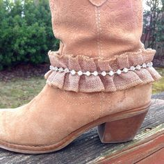 Hey, I found this really awesome Etsy listing at https://www.etsy.com/listing/222529760/burlap-boot-bracelet-bridal-jewelry