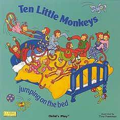 Ten Little Monkeys Jumping on the Bed (Classic Books With Holes)   MonkeyGifts.net