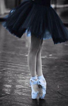 Blue Ballet Shoes
